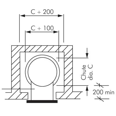 Macdonald soiled linen chute new zealand 39 s leading for Laundry chute dimensions